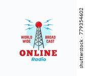 online radio abstract vector... | Shutterstock .eps vector #779354602