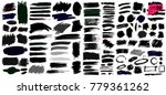 big collection of black paint ... | Shutterstock .eps vector #779361262