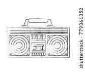 old radio stereo | Shutterstock .eps vector #779361352