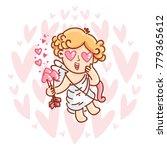 cute cupid baby angel character ... | Shutterstock .eps vector #779365612