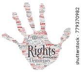vector conceptual human rights... | Shutterstock .eps vector #779370982