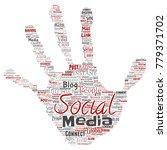 vector conceptual social media... | Shutterstock .eps vector #779371702