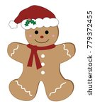 merry christmas gingerbread man | Shutterstock . vector #779372455