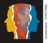schizophrenia depression... | Shutterstock .eps vector #779377006
