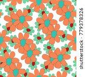 floral seamless pattern. cute... | Shutterstock .eps vector #779378326