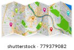 map city fold | Shutterstock .eps vector #779379082