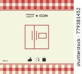 refrigerator linear icon   Shutterstock .eps vector #779381452