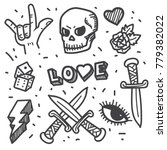 rock star  punk rock generation ... | Shutterstock .eps vector #779382022