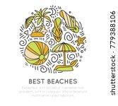 tropical summer beach icon... | Shutterstock .eps vector #779388106