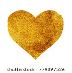 glitter heart on white | Shutterstock . vector #779397526