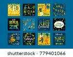 brazil carnival. vector... | Shutterstock .eps vector #779401066