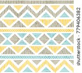 seamless vintage pattern.... | Shutterstock .eps vector #779406382