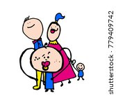 stylized kids illustrations.... | Shutterstock .eps vector #779409742