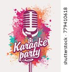 vector banner with microphone... | Shutterstock .eps vector #779410618