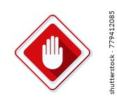 hand block ads sign illustration | Shutterstock .eps vector #779412085