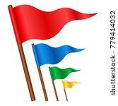 waving colorful triangular flag ... | Shutterstock .eps vector #779414032
