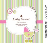 baby shower card | Shutterstock . vector #77941669