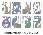 musical covers. set of 8 music... | Shutterstock .eps vector #779417665