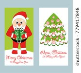 a set of christmas and new year ... | Shutterstock .eps vector #779417848