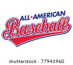 All-American Baseball Vector Lettering