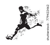 soccer player kicking ball ... | Shutterstock .eps vector #779422462