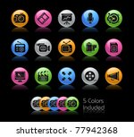multimedia icons    gelcolor... | Shutterstock .eps vector #77942368