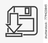 save button vector icon...