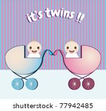 boy and girl twins | Shutterstock .eps vector #77942485
