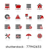 network  server   hosting icons ... | Shutterstock .eps vector #77942653