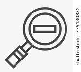 decrease button vector icon... | Shutterstock .eps vector #779430832