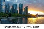 coal harbour in sunset | Shutterstock . vector #779431885