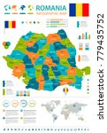 romania infographic map and... | Shutterstock .eps vector #779435752