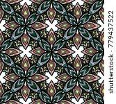 abstract mayan ornamental... | Shutterstock .eps vector #779437522