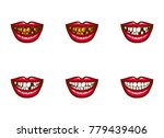 clipart of vector female mouths ... | Shutterstock .eps vector #779439406