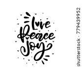 merry christmas calligraphy...   Shutterstock .eps vector #779439952