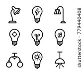 lightbulbs icon set | Shutterstock .eps vector #779440408
