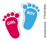 baby footprint   girl and boy... | Shutterstock .eps vector #779447896