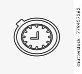 clock vector icon isolated on...