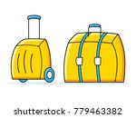 travel suitcases isolated ... | Shutterstock .eps vector #779463382