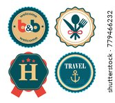 set of vector flat labels for... | Shutterstock .eps vector #779466232