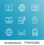 training icon line set with... | Shutterstock .eps vector #779470285