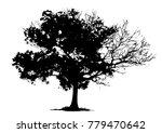 tree silhouettes on white... | Shutterstock .eps vector #779470642
