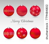 vector collection of christmas... | Shutterstock .eps vector #779484802