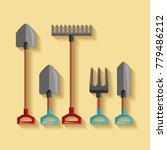 set equipment tool gardening... | Shutterstock .eps vector #779486212