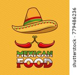 mexican food chili pepper and...   Shutterstock .eps vector #779486236