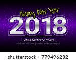 happy new year 2018  wish you... | Shutterstock .eps vector #779496232