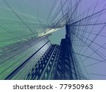 abstract modern architecture | Shutterstock . vector #77950963