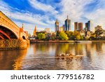 golden sunlight and morning... | Shutterstock . vector #779516782
