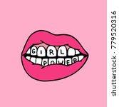 lips  girl power traditional... | Shutterstock .eps vector #779520316