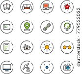 line vector icon set   airport... | Shutterstock .eps vector #779522032